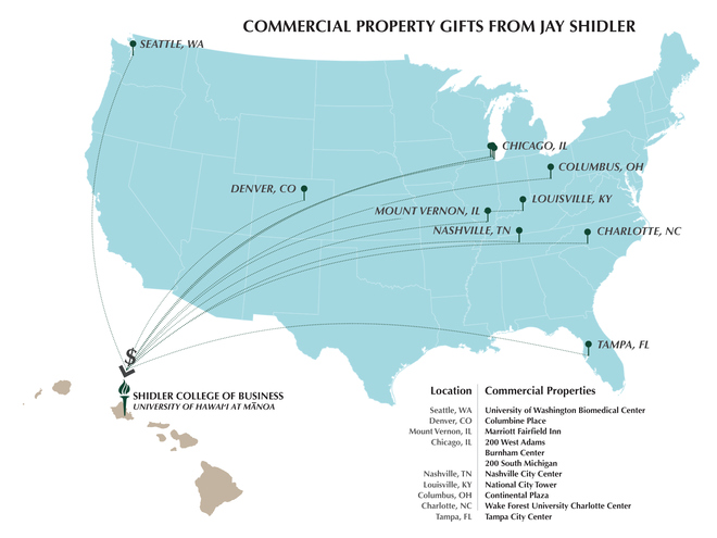 Map of gifted properties