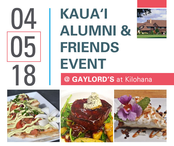 04/05/18 Kaua'i Alumni & Friends Event at Gaylord's at Kilohana