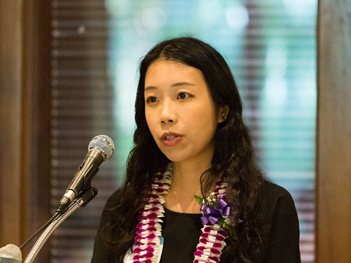 Jing Ai, associate professor of finance and First Insurance Company of Hawaii Distinguished Professor.