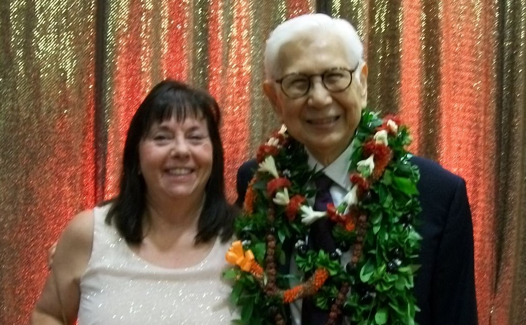 Eva Kaa and the late Chuck Gee, former dean of the TIM School